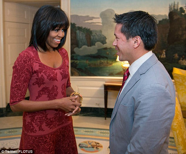 Birthday bangs: The First Lady's office revealed Michelle Obama's new blunt bob under her new Twitter identity this afternoon, her 49th birthday