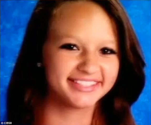 Missing: Baileigh Karam, 14, of Carlsbad, California, disappeared last Friday after a video surfaced online of her being struck repeatedly by a classmate
