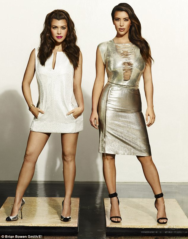 Shining stars: Kourtney and Kim pose in sexy photos in new promotional shots for their spin-off show