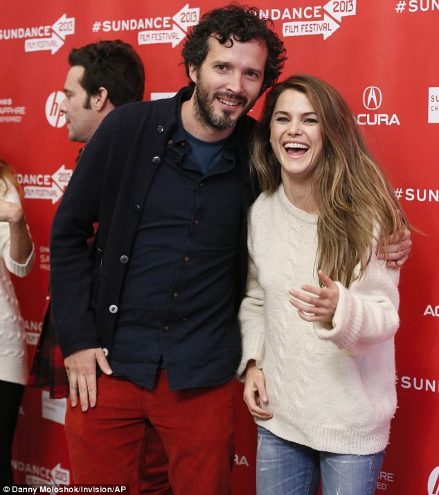 Having a ball: Keri and her Austenland co-star Bret McKenzie were clearly having a great time on day one of the event