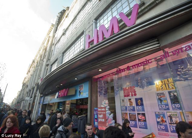 Struggling: HMV has gone into administration and around 4,350 staff face losing their jobs