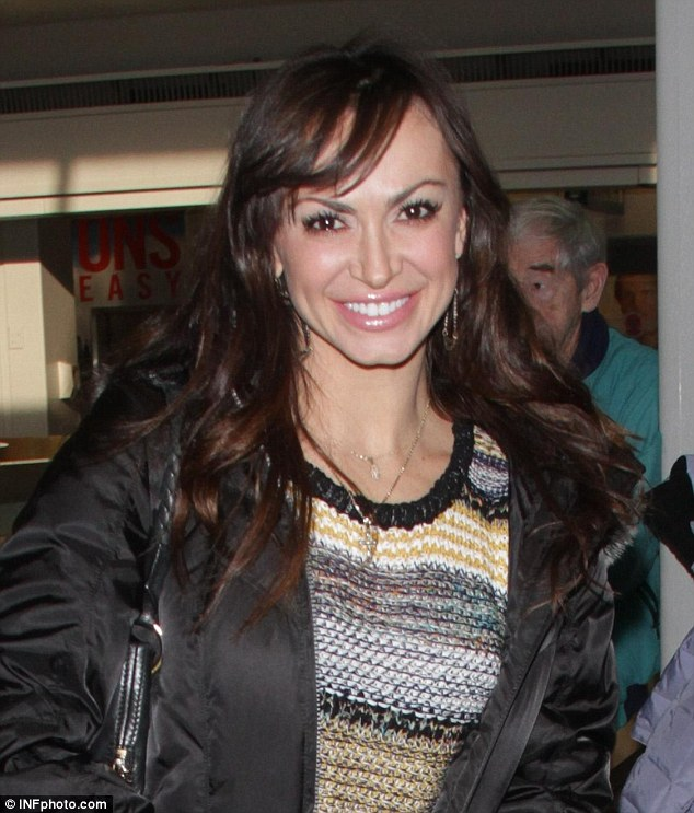 Sundancer: Dancing with the Stars hoofer Karina Smirnoff was also spotted touching down to Salt Lake City on Wednesday