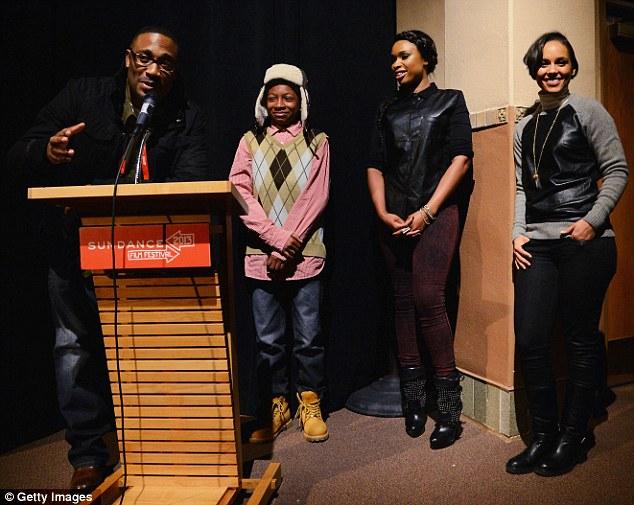 Sundance premiere: The American Idol winner and producer Alicia Keys introduced their drama alongside director George Tillman Jr. and co-star Skylan Brooks