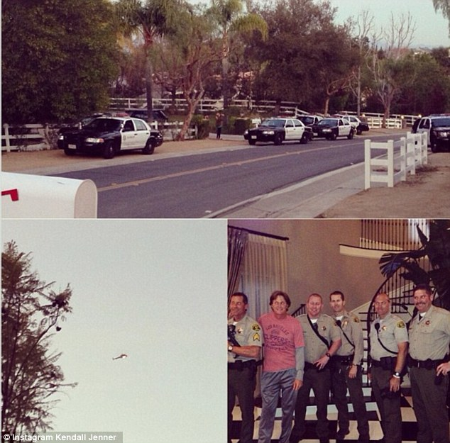 'I love it when 8 police officers show up at my door and 10 cop cars are outside my house': Kendall Jenner made an Instagram homage to the drama
