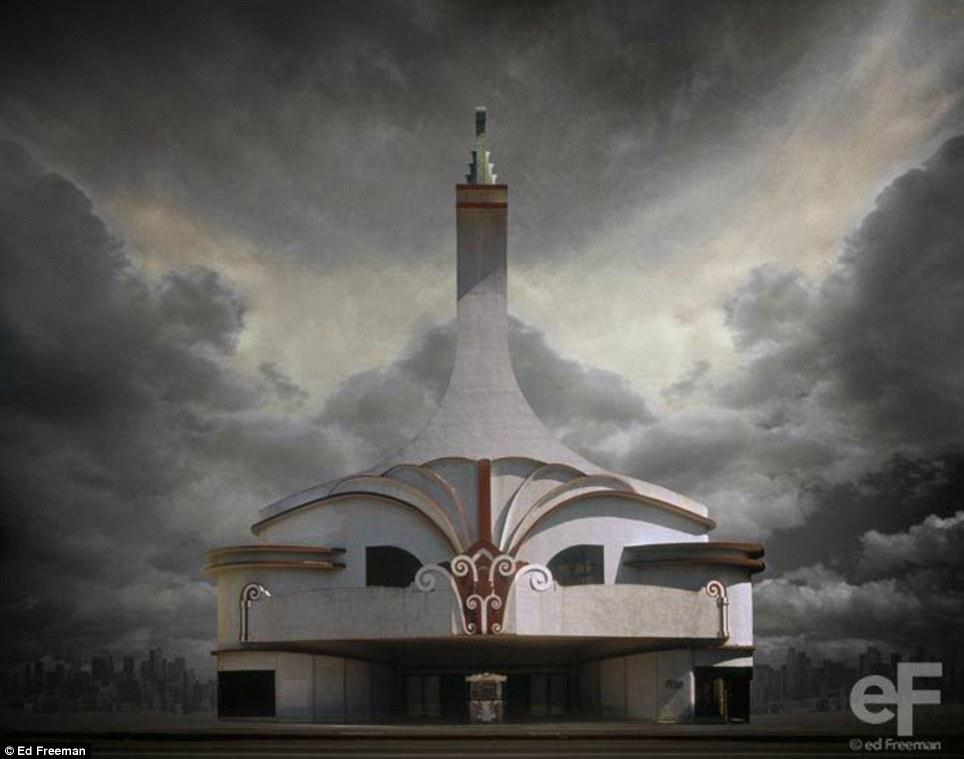 Порча и благодать: здание Фриман берет на фантазию качества, поднявшись из пустыни на фоне грозового неба