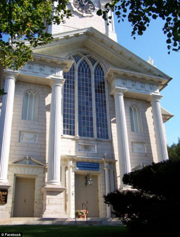 Stately: The ceremony, held at First Unitarian Church in Providence, was attended by about 250 guests, with Rhode Island's governor, among them