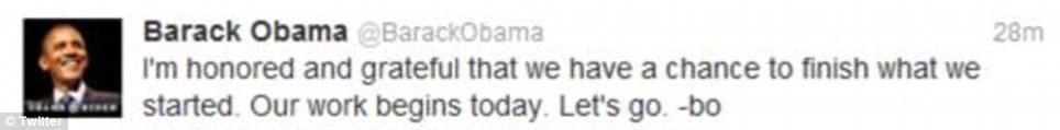 Looking for something to do? As he attended the church service, Obama apparently tweeted this message to his Twitter followers