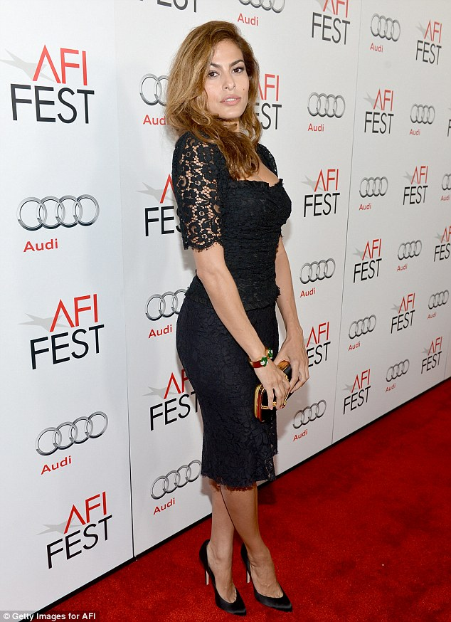 Her more usual look: Eva on the red carpet at an event last month