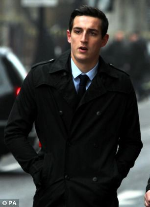 Lewis Dunk, arriving at the Old Bailey, London, who along with three other footballers is accused of sexual assault