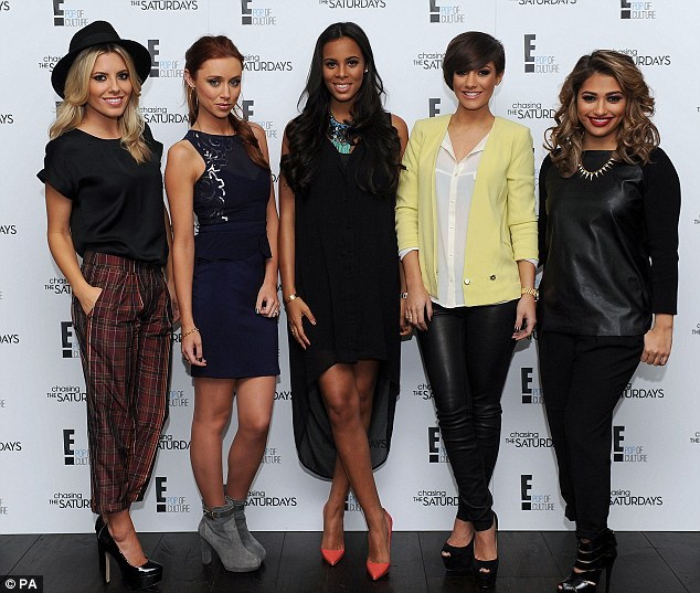 Launch: The Saturdays launched their new reality show on Wednesday at the Soho hotel in London