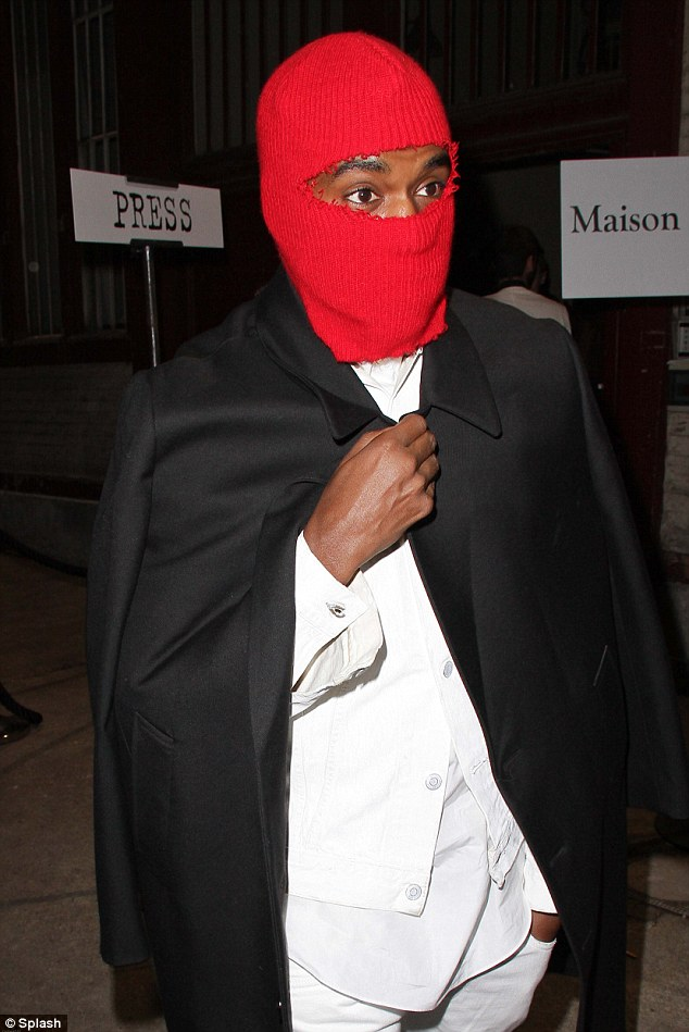 Undercover: Kanye West attends the Maison Martin Margiela Spring/Summer 2013 Haute-Couture show as part of Paris Fashion Week