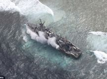 Mayday! Grounded U.S. Navy ship takes on water in ...
