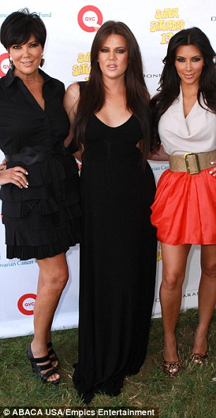 Furious: Khloe and Kim Kardashian, pictured with Kris Jenner in 2010, have slammed their father's widow Ellen Kardashian
