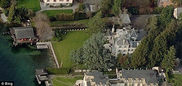 Swiss estate: Tina Turner's home in Chateau Algonquin which sits on Lake Zurich