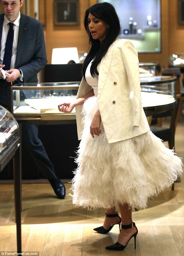 Billowing: The dress, which would probably look more appropriate on the catwalk, hardly did the curvy star's figure any favours with it's billowing skirt