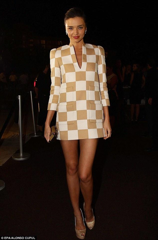 Miranda Kerr wearing Spring 2013 Louis Vuitton