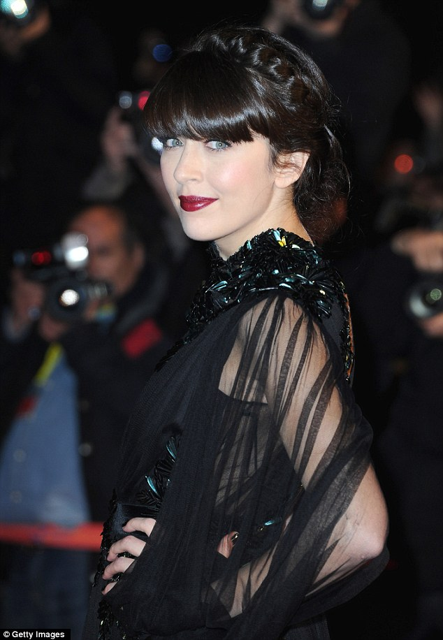 Striking: Nolwenn Leroy looked amazing in her all black ensemble as she sported dark red lips