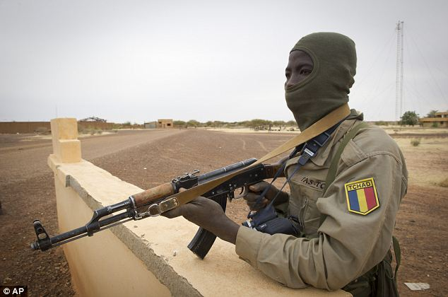 Chad support fighter: But despite facing little of no resistance so far, they face a tough job of combing through the labyrinth of ancient mosques and monuments and mud-brick homes between alleys to flush out any hiding Islamist fighters