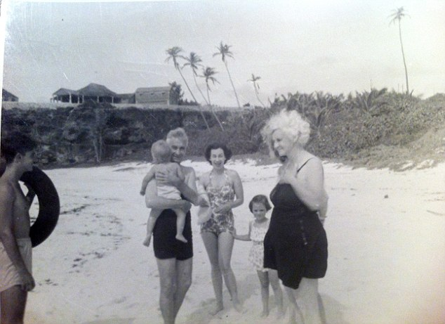 Archive photo of the Gooding family enjoying a day on the beach in Barbados
