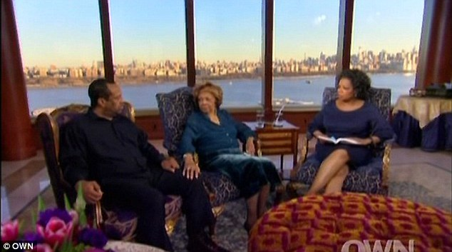 Check out the view: Oprah Winfrey interviews the pair at Cissy's New Jersey waterfront mansion