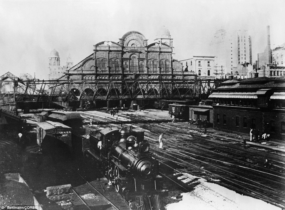 The station, shown here in 1899, took more around 15 years to build