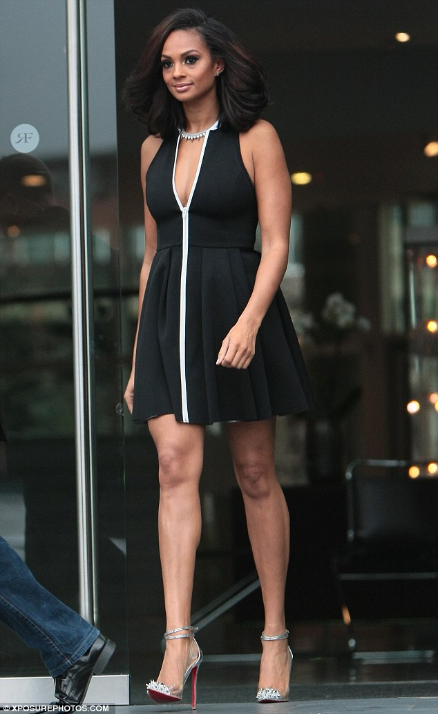 Monochrome: Aleesha Dixon wore an interesting skater dress for the Manchester auditions of BGT