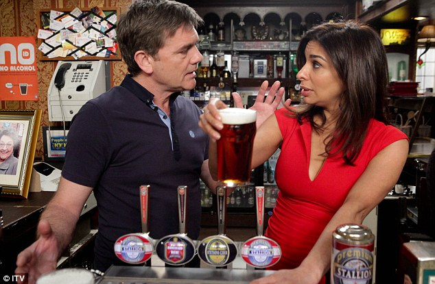 Dramatic departure: It was recently revealed that Shobna's character Sunita Alahan is going to be killed off in a fire in the Rovers Return