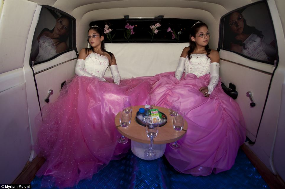 Italian Myriam Meloni picture called 'Limousine porte' of twins Laura and Bel on their 15th birthday in Buenos Aires, Argentina, is in the final three of the arts and culture category
