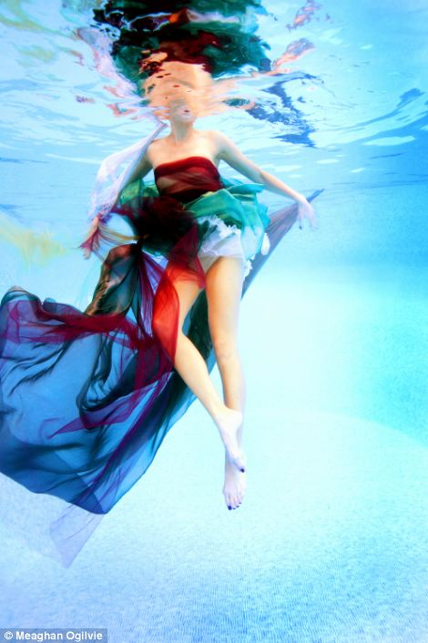 Photographer Meaghan Ogilvie held her breath to shoot models underwater, left, in the nominated series.