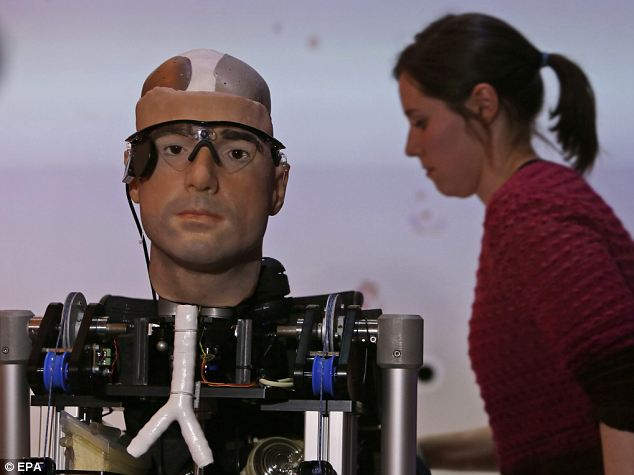 On show: The world's first complete Bionic Man unveiled at the Science Museum in London today