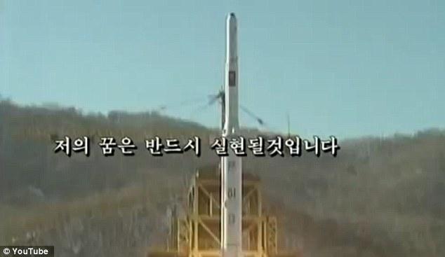 Preocuparse señal: Los sueños del hombre joven de estar a bordo de un transbordador espacial de Corea del Norte puso en órbita por el mismo tipo de cohete de Pyongyang probó con éxito en diciembre
