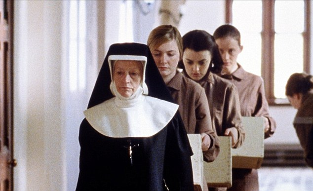 Plight: The Magdalene Sisters starring Dorothy Duffy (second front), Nora-Jane Noone (second back) and Anne-Marie Duff (back) told the harrowing story of three girls placed in one of the laundries