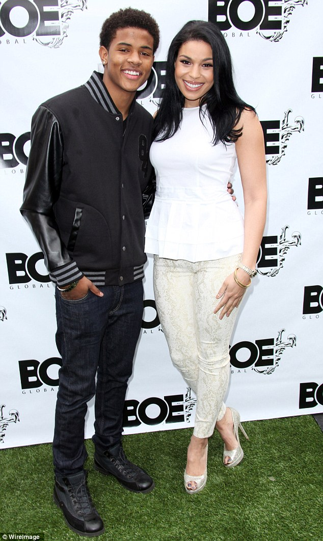 Cuddling up: Jordin was joined by several other big hitters in the music industry, including Let It Shine star Trevor Jackson