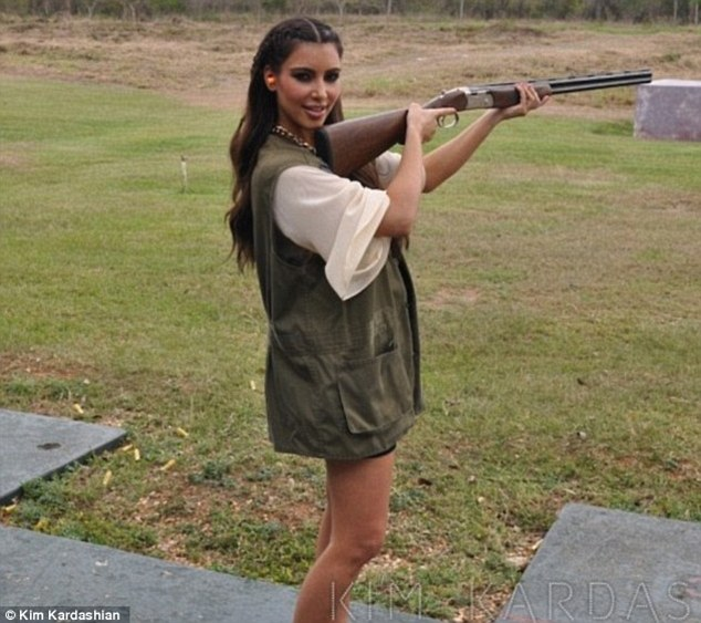 Shooting fan? Last year Kim shared a picture of herself at a shooting range learning how to fire a gun