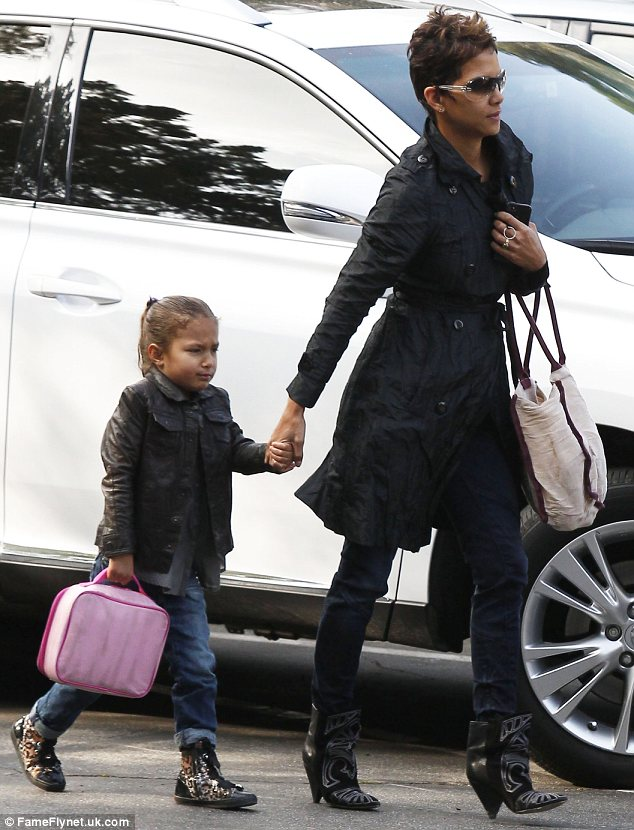 That outfit looks familiar: It looks like Halle Berry's daughter Nahla is copying Olivier Martinez's style