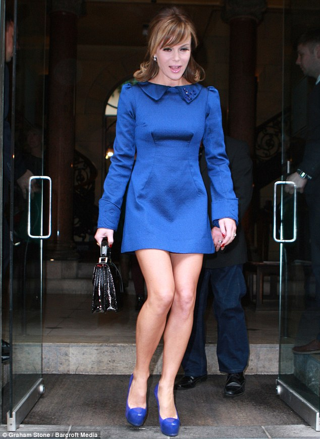 Skater girl: Amanda Holden looked stylish in a fun and flirty retro-inspired minidress as she attended the final stage of BGT auditions