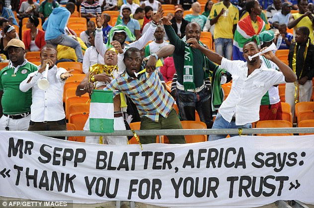 Warm welcome: FIFA president Sepp Blatter was made to feel at home in South Africa