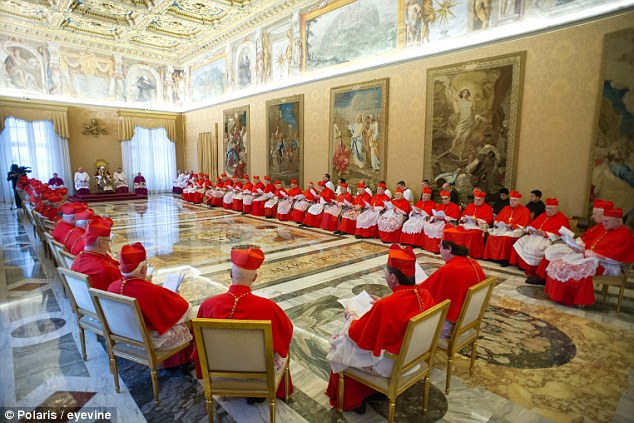 Complete surprise: Several cardinals did not even understand what Benedict had said during the consistory and those who did were stunned, a Vatican spokesman said