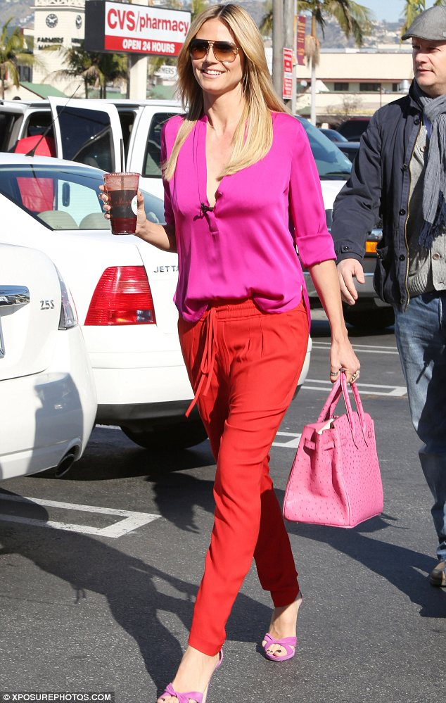Clash of the Colours! Heidi Klum joins the list of celebrities mixing up shades with style