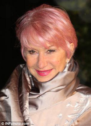 Dame Helen Mirrens Pink Hair How Dyeing My Hair Like Her