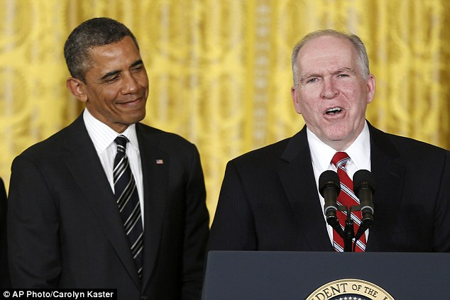 Accusations: John Brennan (right) has been nominated as the new Director of the CIA by President Barack Obama