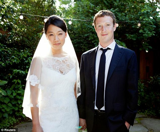Power couple: Mark Zuckerberg and his wife Priscilla Chan were listed as the second-largest donors in the country in 2012 after giving away $498.8million