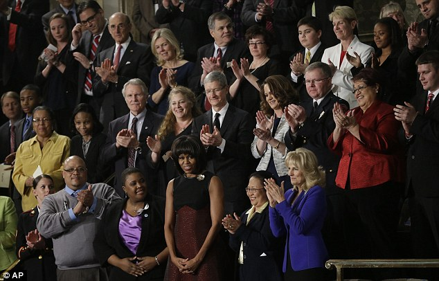 Michelle Obama and Dr Jill Biden were surrounded by the noted guests