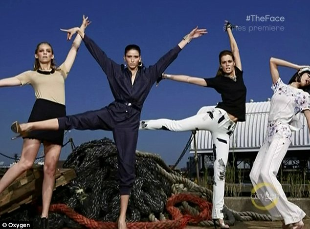 Dramatic: Coco Rocha's girls channelled dancers for their photo as part of the uptown versus downtown girls theme