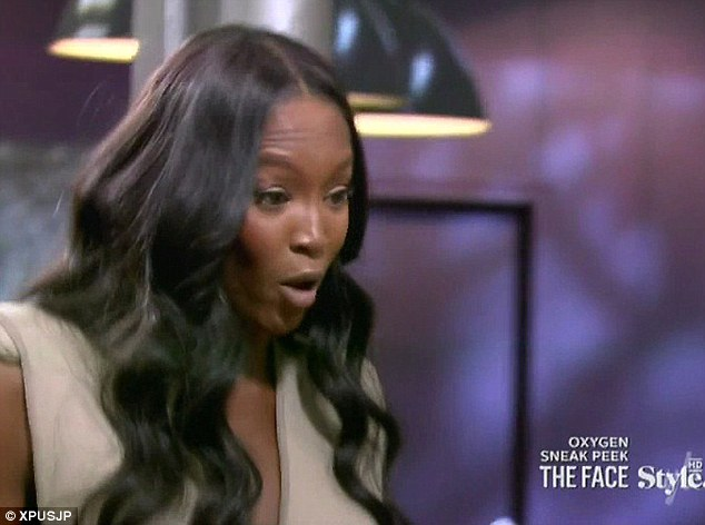 In shock: Naomi can't hide her annoyance at the fact that one of her team is the first to be kicked off the new show