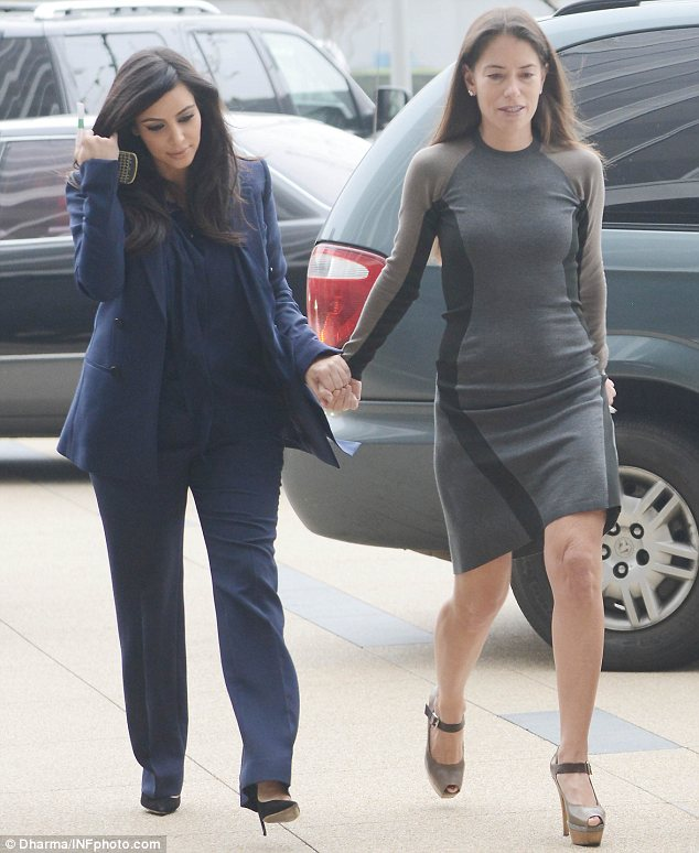 Girl power: Kim has enlisted the help of hotshot lawyer Laura Wasser, who filed the documents on February 8, three days after the pair were seen hand-in-hand
