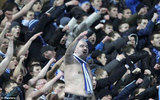 Hostile: Zenit fans dominated the pre-match talk