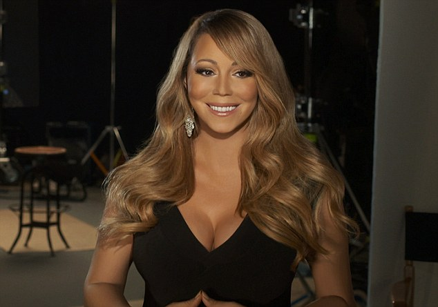 Picture perfect: A new image of Mariah from the recording of her new single Almost Home has been released, showing the singer looking completely flawless