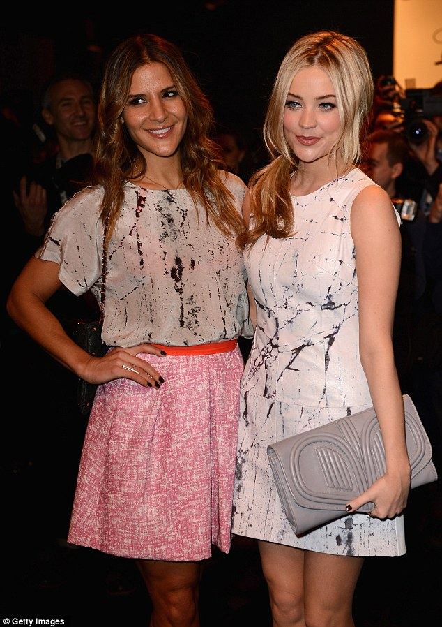 Fans of the brand: Laura and Amanda are just two of the stars who champion Zoe Jordan, showcasing her designs on the front row