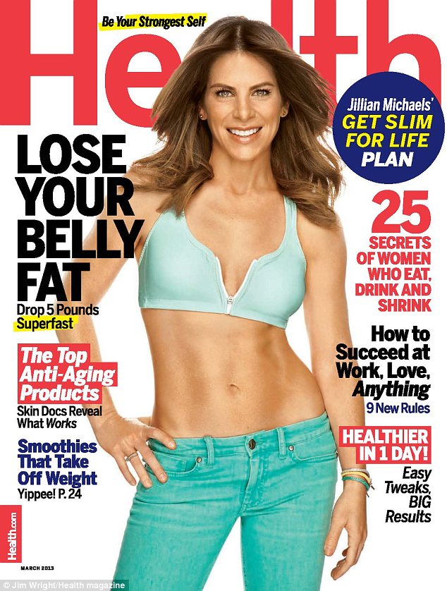 Cover girl: Jillian graces the cover of the new issue of Health magazine, out now, and divulges her slimming tips